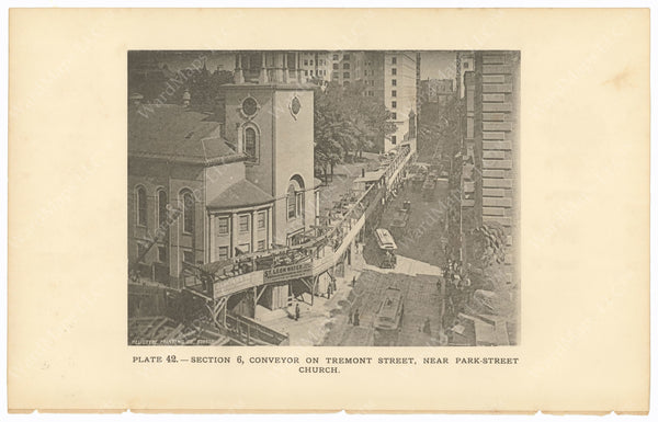 BTC Annual Report 02, 1896 Plate 42: Conveyor on Tremont Street