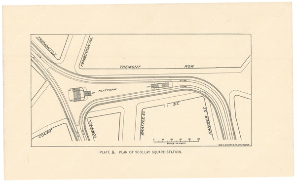 BTC Annual Report 02, 1896 Plate A: Plan of Scollay Square Station