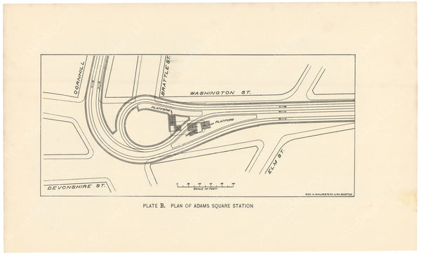 BTC Annual Report 02, 1896 Plate B: Plan of Adams Square Station
