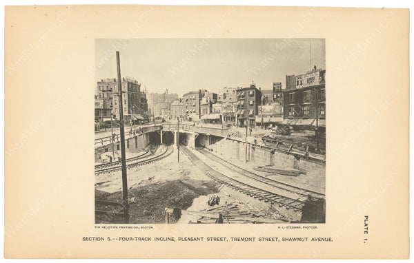 BTC Annual Report 03, 1897 Plate 01: Pleasant Street Incline