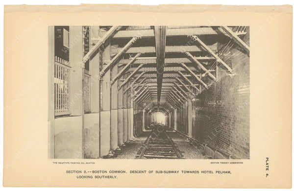BTC Annual Report 03, 1897 Plate 04: Subway Descent Looking South