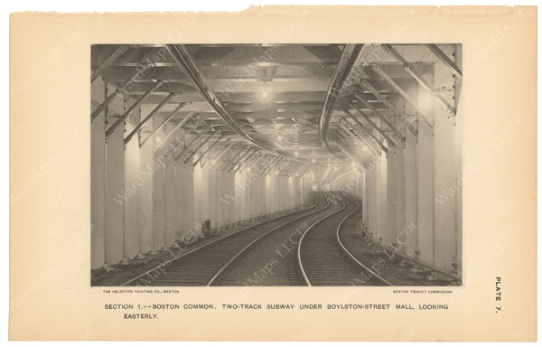BTC Annual Report 03, 1897 Plate 07: Two Track Subway Under Boylston Street Mall