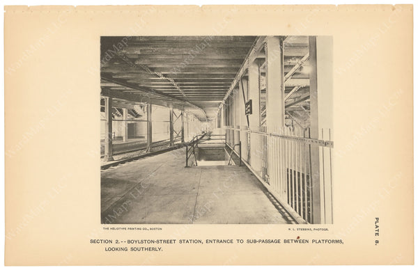 BTC Annual Report 03, 1897 Plate 08: Boylston Street Station, Entrance to Sub-Passage