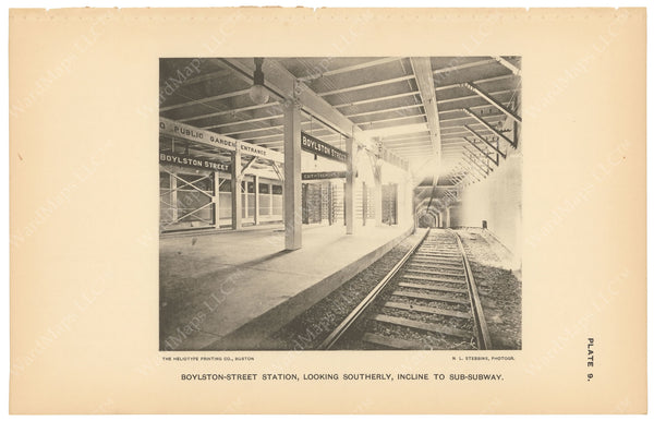 BTC Annual Report 03, 1897 Plate 09: Boylston Street Station, Incline to Sub-Subway