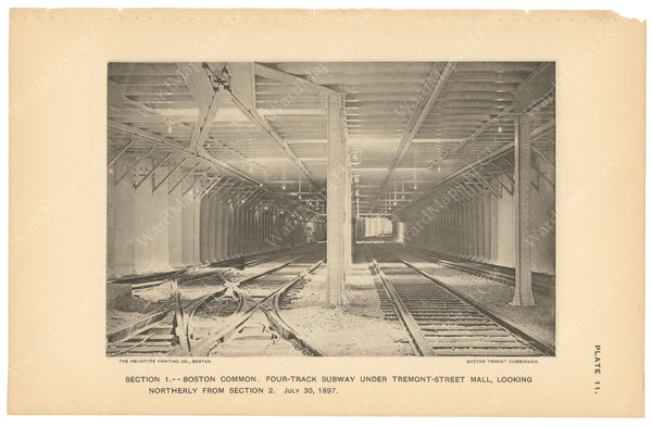 BTC Annual Report 03, 1897 Plate 11: Four Track Subway