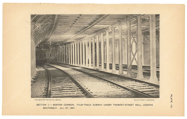 BTC Annual Report 03, 1897 Plate 12: Four Track Subway
