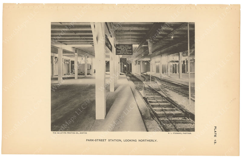 BTC Annual Report 03, 1897 Plate 13: Park Street Station Westbound Looking North
