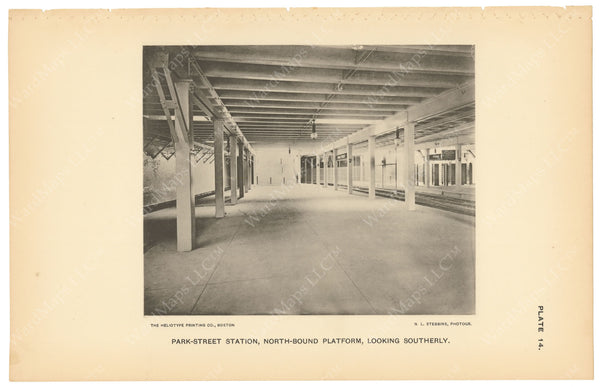 BTC Annual Report 03, 1897 Plate 14: Park Street Station Northbound Looking South