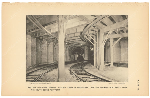 BTC Annual Report 03, 1897 Plate 16: Park Street Station Loop Tracks