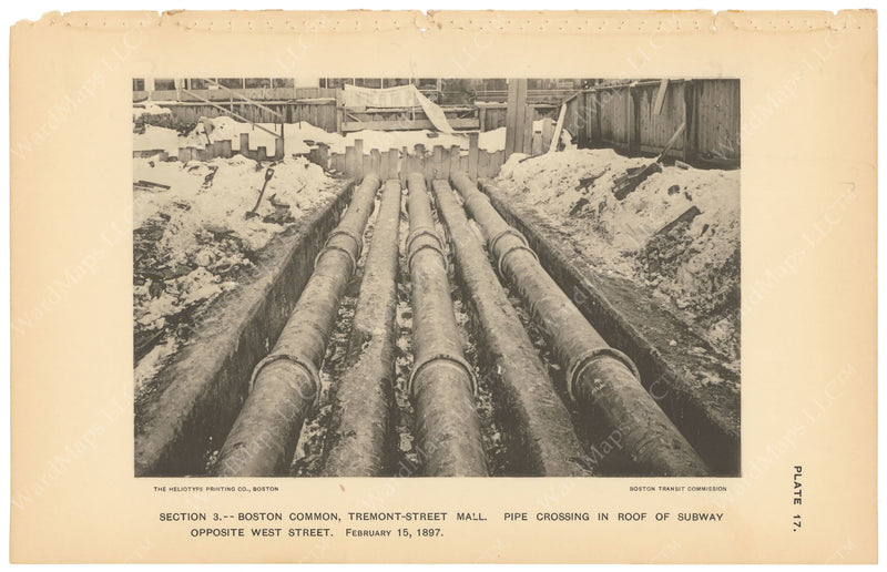 BTC Annual Report 03, 1897 Plate 17: Pipes Crossing Subway Roof