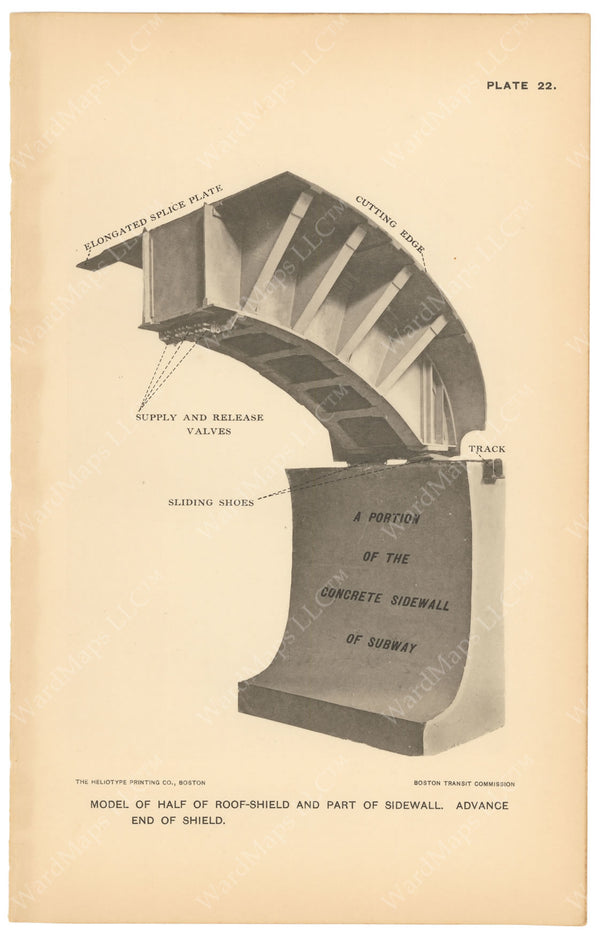 BTC Annual Report 03, 1897 Plate 022: Model of Roof Shield