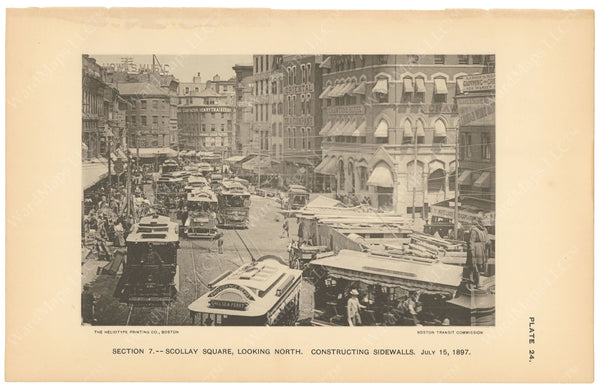 BTC Annual Report 03, 1897 Plate 24: Subway Construction at Scollay Square