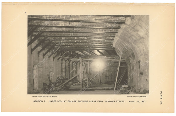 BTC Annual Report 03, 1897 Plate 26: Subway Construction Under Scollay Square