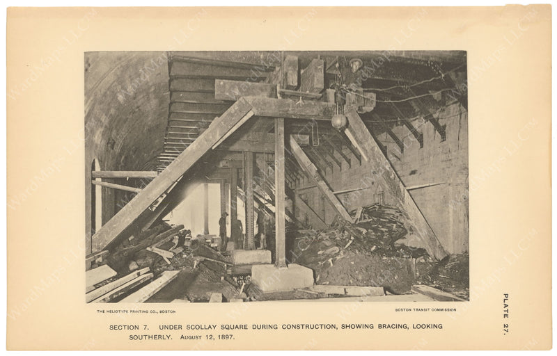 BTC Annual Report 03, 1897 Plate 27: Subway Construction Under Scollay Square