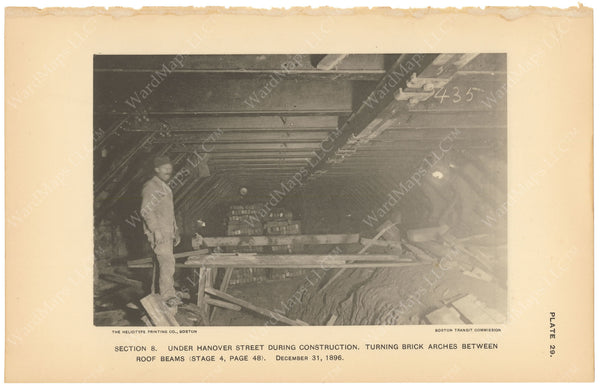 BTC Annual Report 03, 1897 Plate 29: Construction Under Hanover Street