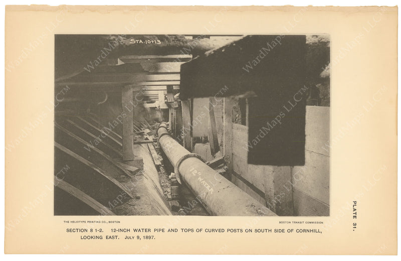 BTC Annual Report 03, 1897 Plate 31: Water Pipe at Cornhill