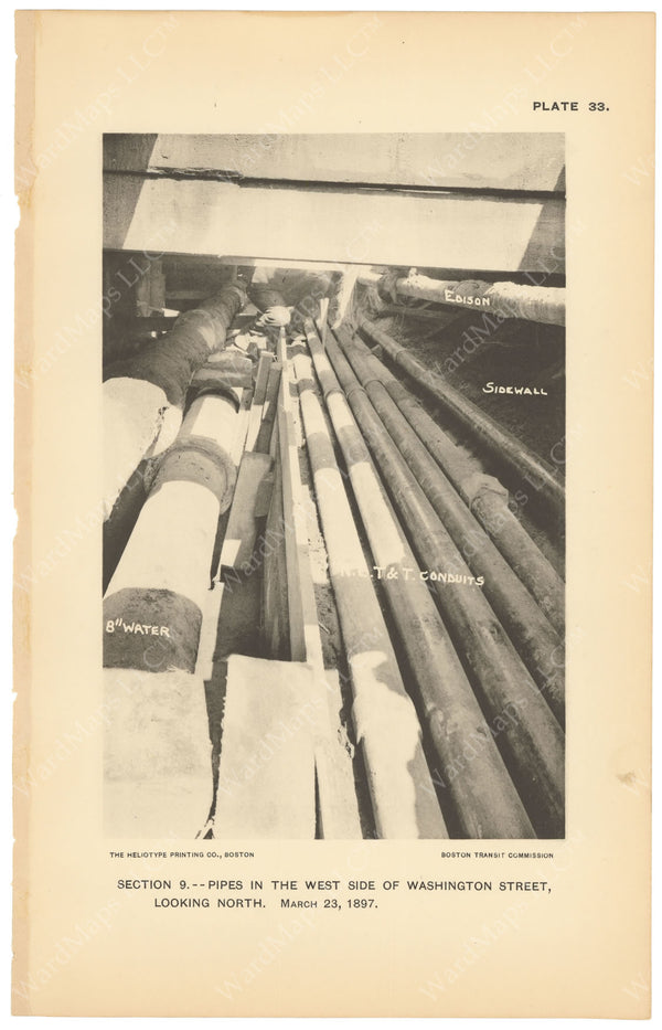 BTC Annual Report 03, 1897 Plate 33: Pipes in Washington Street