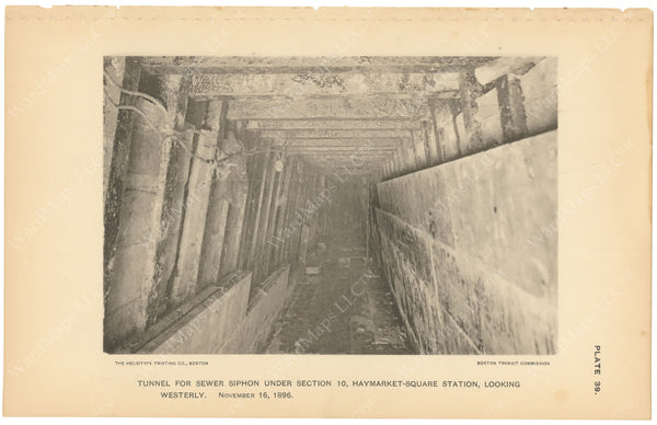 BTC Annual Report 03, 1897 Plate 39: Tunnel For Sewer