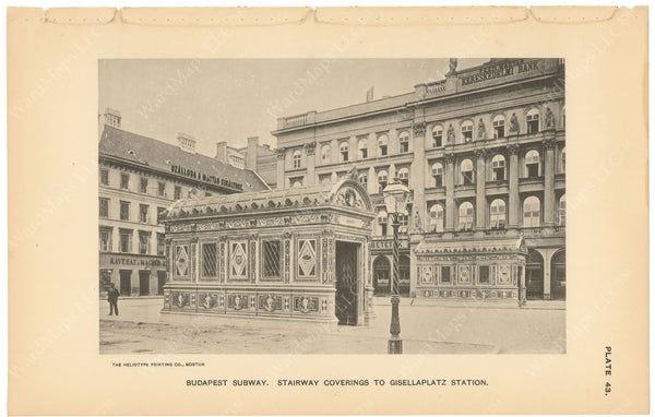 BTC Annual Report 03, 1897 Plate 43: Budapest Subway, Gisellaplatz Station Head Houses