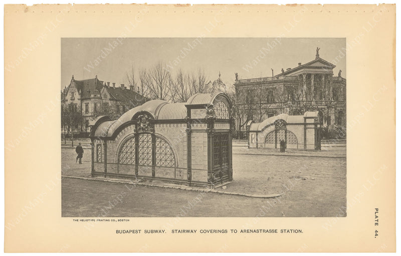 BTC Annual Report 03, 1897 Plate 44: Budapest Subway Head House