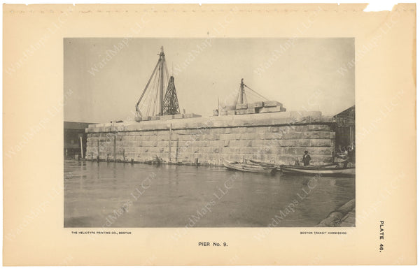 BTC Annual Report 03, 1897 Plate 46: Charlestown Bridge Pier #9