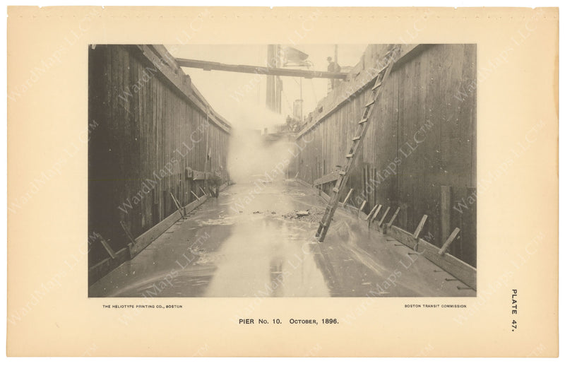 BTC Annual Report 03, 1897 Plate 47: Charlestown Bridge Pier #10