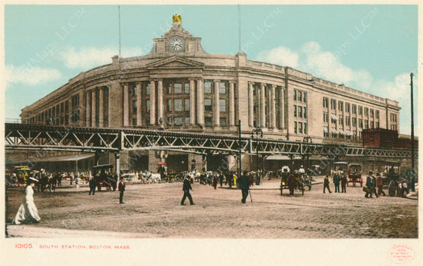 South Station and Dewey Square, Boston, Massachusetts Circa 1901