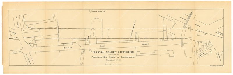 BTC Annual Report 01, 1895: Proposed New Bridge to Charlestown, July 30, 1895
