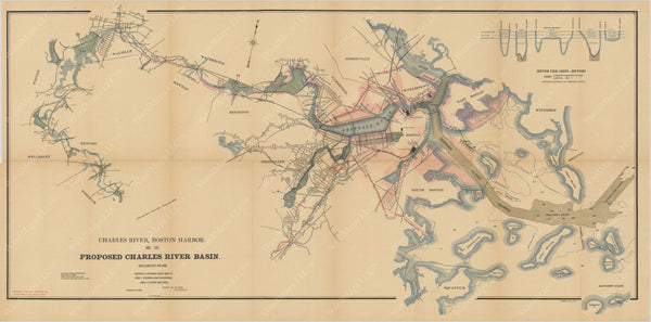 Charles River Dam Report 1903: Proposed Charles River Basin 1902