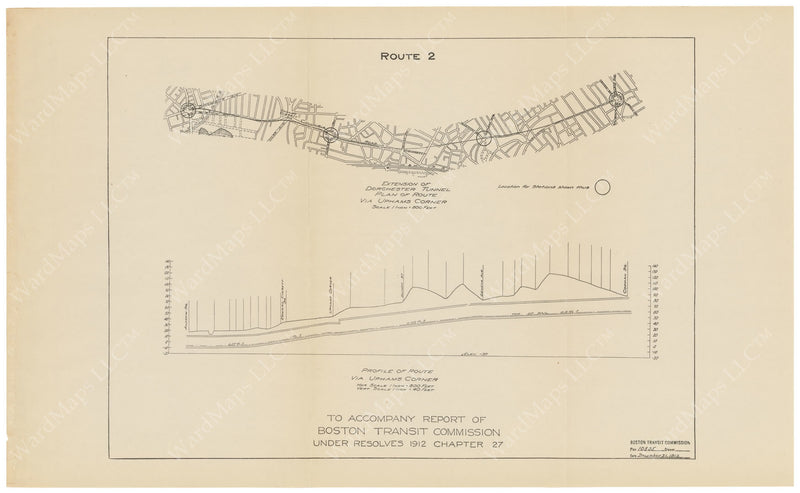 BTC Annual Report 19, 1913: Dorchester Tunnel Extension, Proposed Route 2