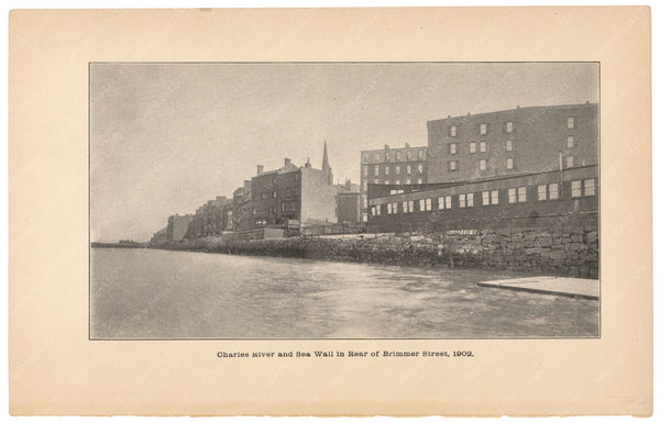 Charles River Dam Report 1903: Sea Wall at Brimmer Street 1902