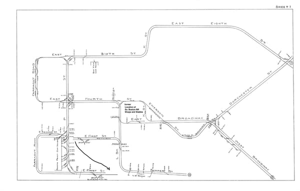Boston Elevated Railway Co. Track Plans 1915 Plate 01: South Boston