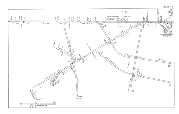 Boston Elevated Railway Co. Track Plans 1915 Plate 05: Dorchester