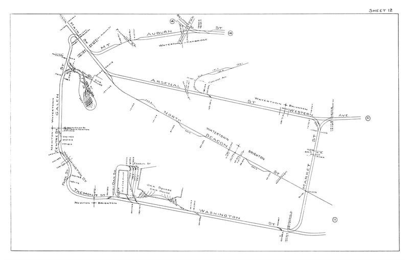 Boston Elevated Railway Co. Track Plans 1915 Plates 12: Watertown