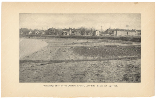 Charles River Dam Report 1903: Cambridge Shore Above Western Avenue