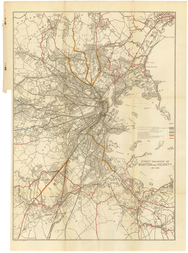 BTC Annual Report 20, 1914: Street Railways of Boston and Vicinity 1914