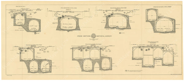 BTC Annual Report 02, 1896 Plate 25: Cross Sections at Subway Section 4