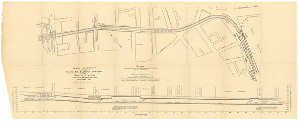 BTC Annual Report 17, 1911: Study for Dorchester Tunnel