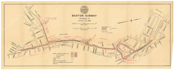 BTC Annual Report 03, 1897: Boston Subway Progress to August 15, 1897