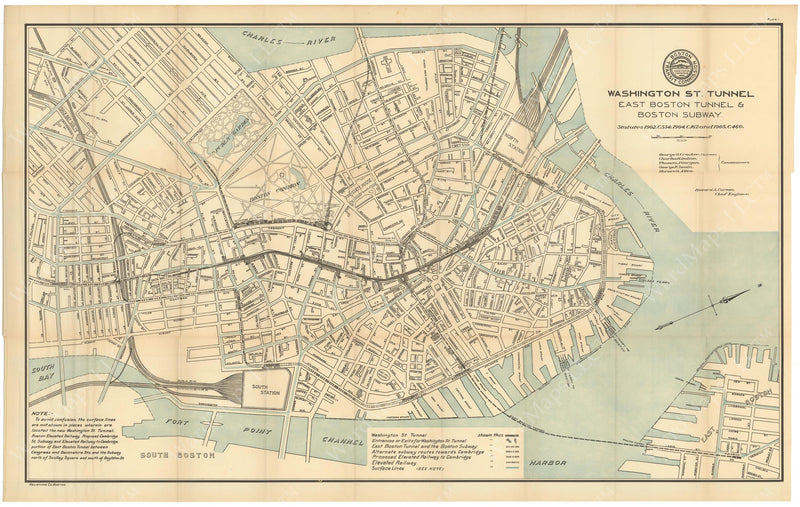 BTC Annual Report 12, 1906 Plate 01: Downtown Transit Map