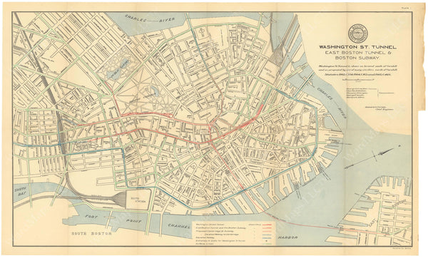 BTC Annual Report 11, 1905 Plate 01: Downtown Transit Map
