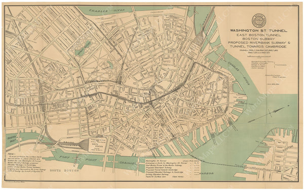 BTC Annual Report 14, 1908 Plate 01: Downtown Transit Map
