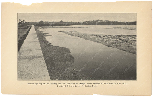 Charles River Dam Report 1903: Cambridge Esplanade 1902