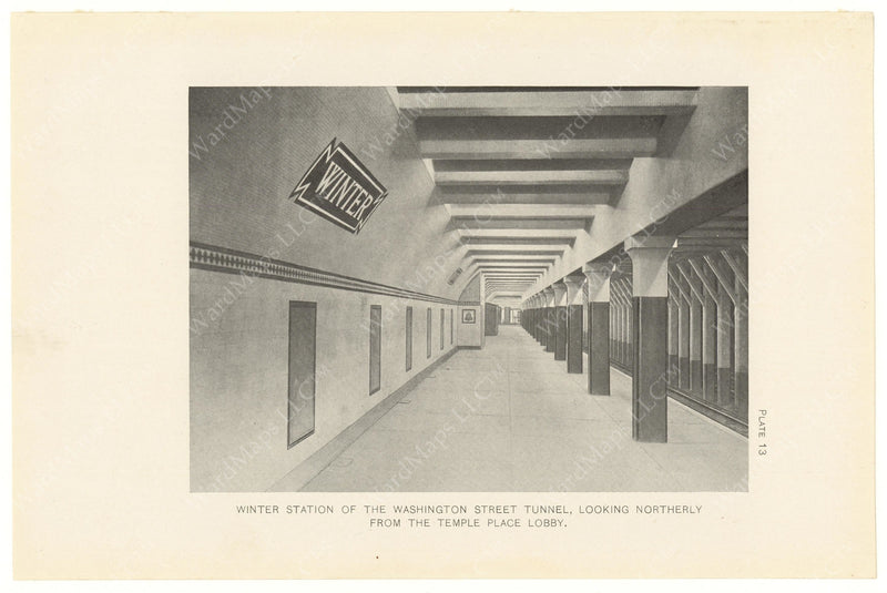 BTC Annual Report 14, 1908 Plate 13: Winter Station Platform, Looking North