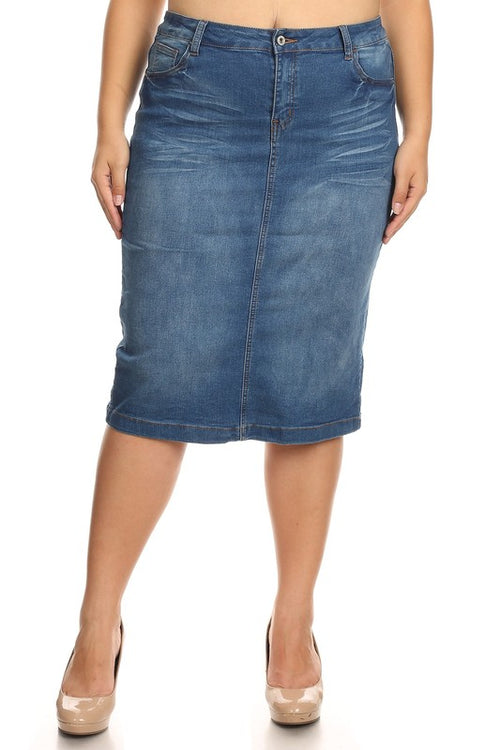 Charlotte Curvy Denim Skirt