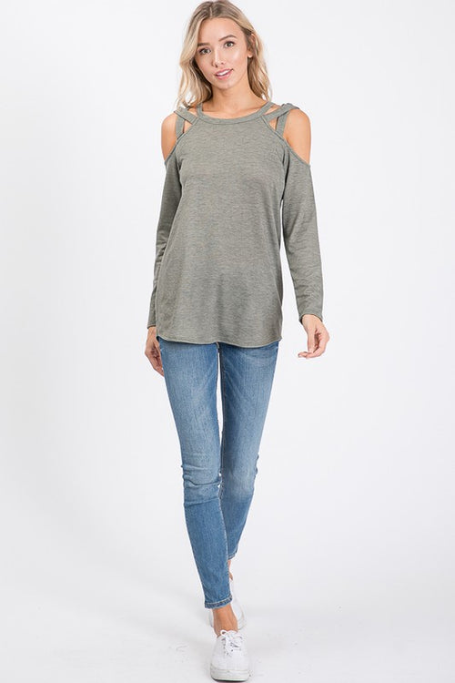 Vanessa Cold Shoulder Sweater