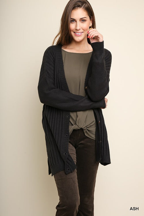 Blair Button Cardigan - Curvy