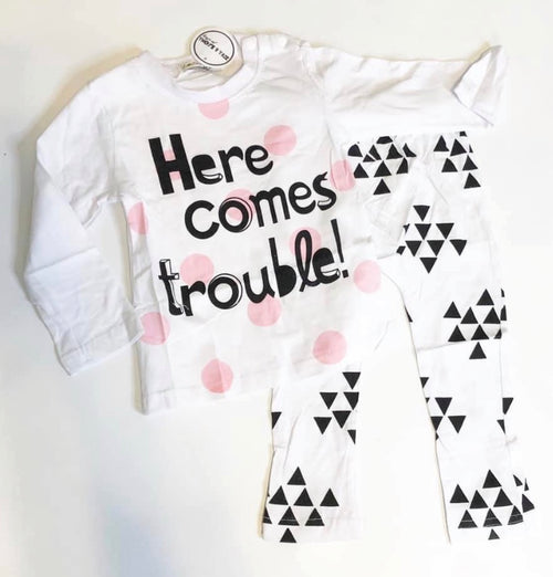 Here Comes Trouble - 2pc outfit