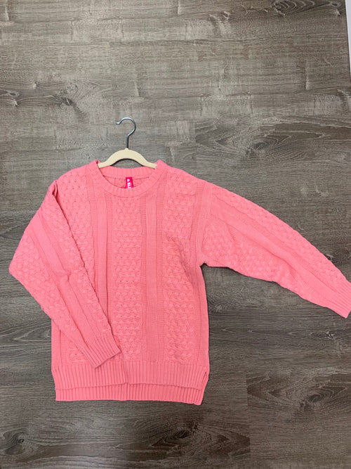 Pink Knit Youth Sweater