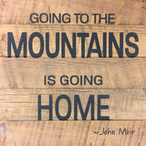 Going to the Mountains is going home ~John Muir